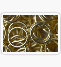 Golden Rings Sticker
