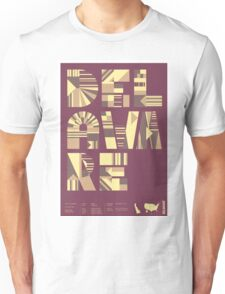 Typographic Delaware State Poster Unisex T-Shirt