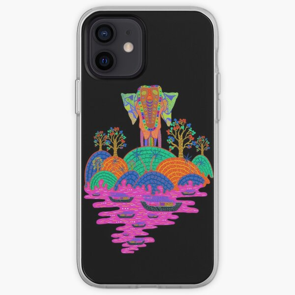 Tropical Indian Elephant Forest to the Sea  iPhone Soft Case