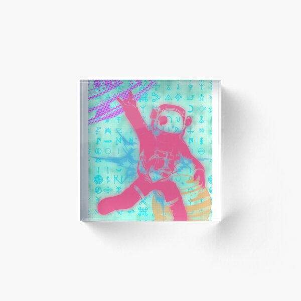 Space Trouble Acrylic Block