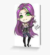 Chibi Virus Greeting Card