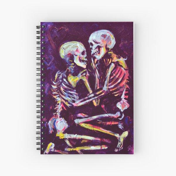 que representa un par de esqueletos Cuaderno de espiral