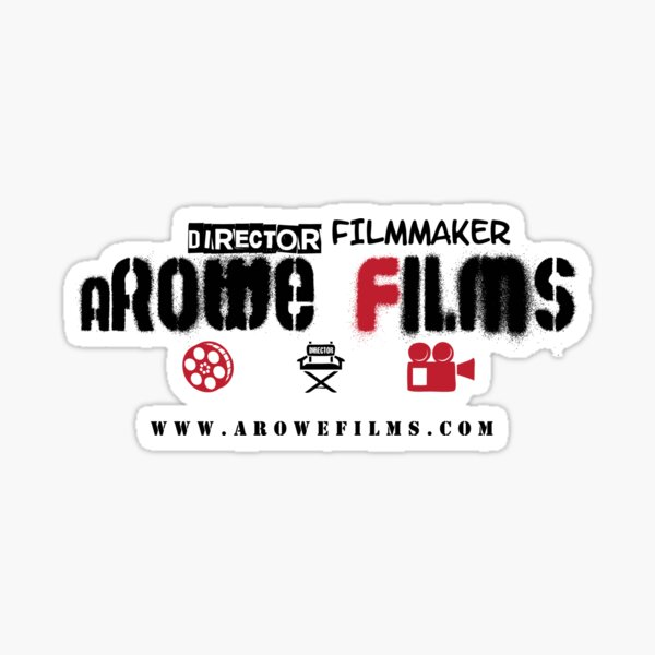 aRowe Films Grunge White Sticker