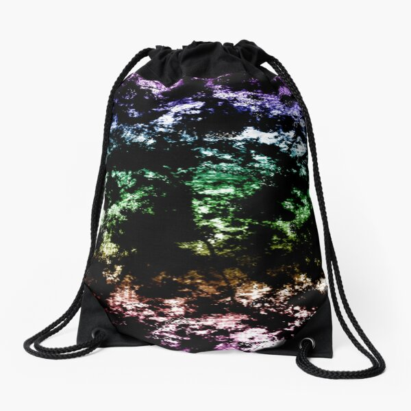 Rockin' Rainbow, Grunge, Gradient Drawstring Bag