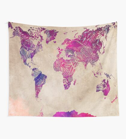 world map 22 Wall Tapestry