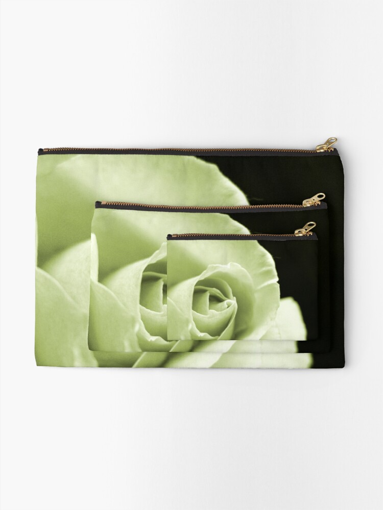 Alternate view of Rose Mono Zipper Pouch