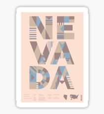 Typographic Nevada State Poster Sticker