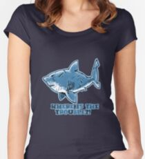 great white shark the problem solver  Women's Fitted Scoop T-Shirt