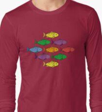 Rainbow Fishes Long Sleeve T-Shirt