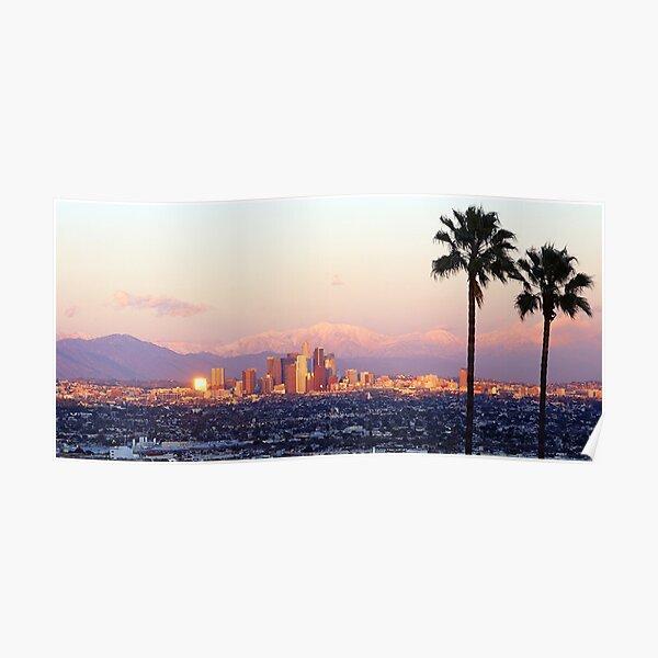 Vue sur la ville de Los Angeles Poster