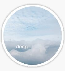deep. Sticker