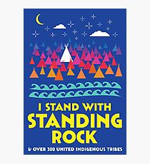 Stand With Standing Rock Shirt Photographic Print