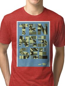 Typographic Tennessee State Poster Tri-blend T-Shirt