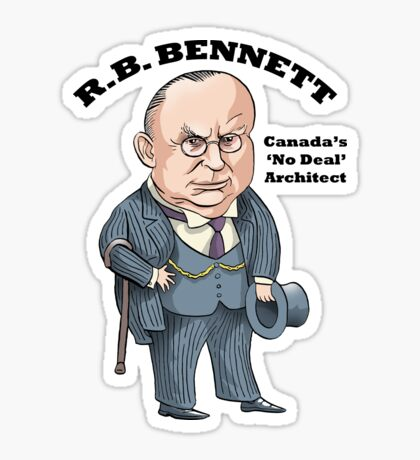 R.B. Bennett 'No Deal' Sticker