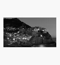 Black and White Cinque Terre Photographic Print