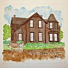 LINDBERG HOUSE OREGON by dkatiepowellart