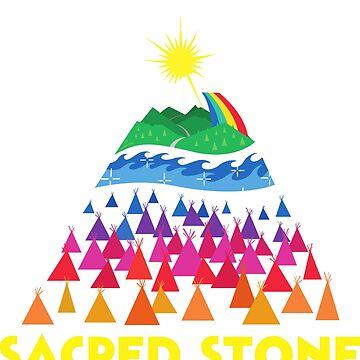 Rainbow Sacred Stone Shirt by AndrewHart