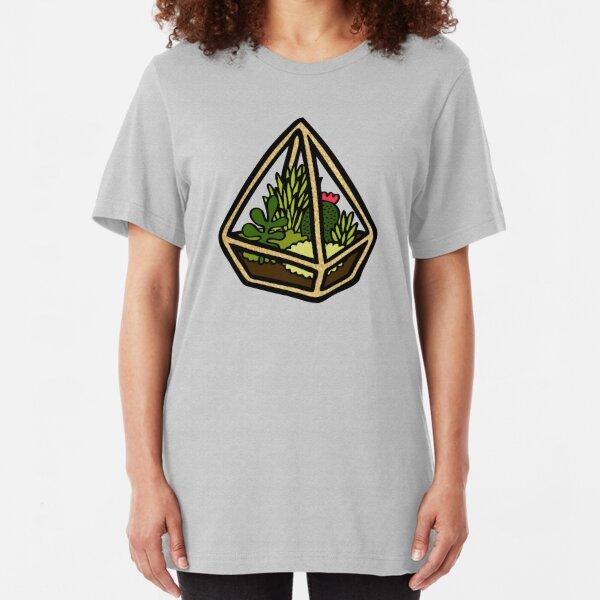 Terrarium Pattern in Yellow Slim Fit T-Shirt