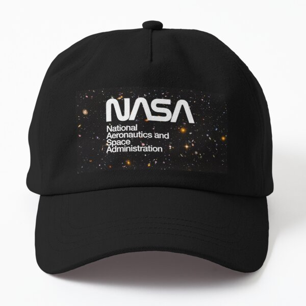 NASA Worm on Galaxy Starfield Hubble Deep Field Background Dad Hat