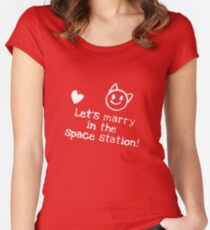 Space Station Women's Fitted Scoop T-Shirt