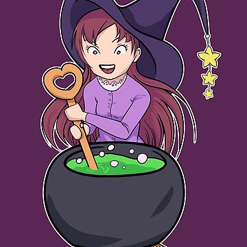 Little Witch Makes Potion by adriennecsedi