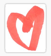 Pattern Red Heart  Sticker