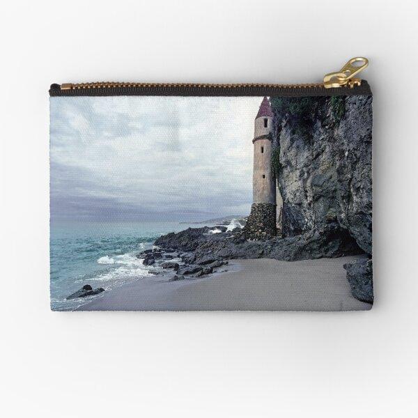Castle Turret at Victoria Beach, Laguna Beach Zipper Pouch