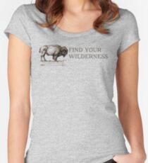 Camiseta entallada de cuello redondo Encuentra tu desierto