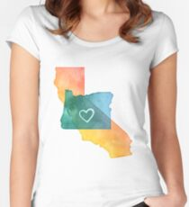 I Love California and Oregon Women's Fitted Scoop T-Shirt