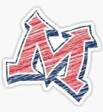 Miller M (Red & Grey) Sticker