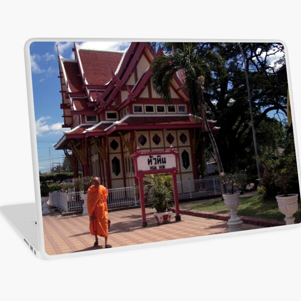 Monk At Hua Hin Station Laptop Skin