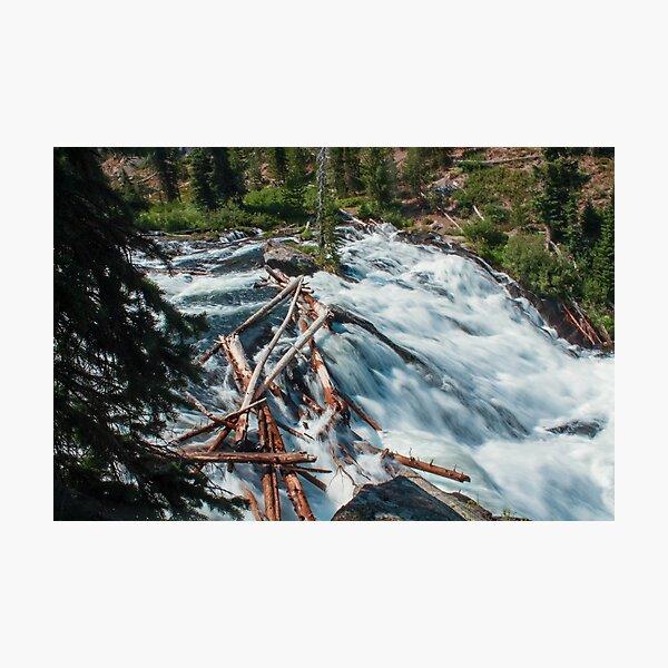 Rushing waves of Yellowstone Photographic Print