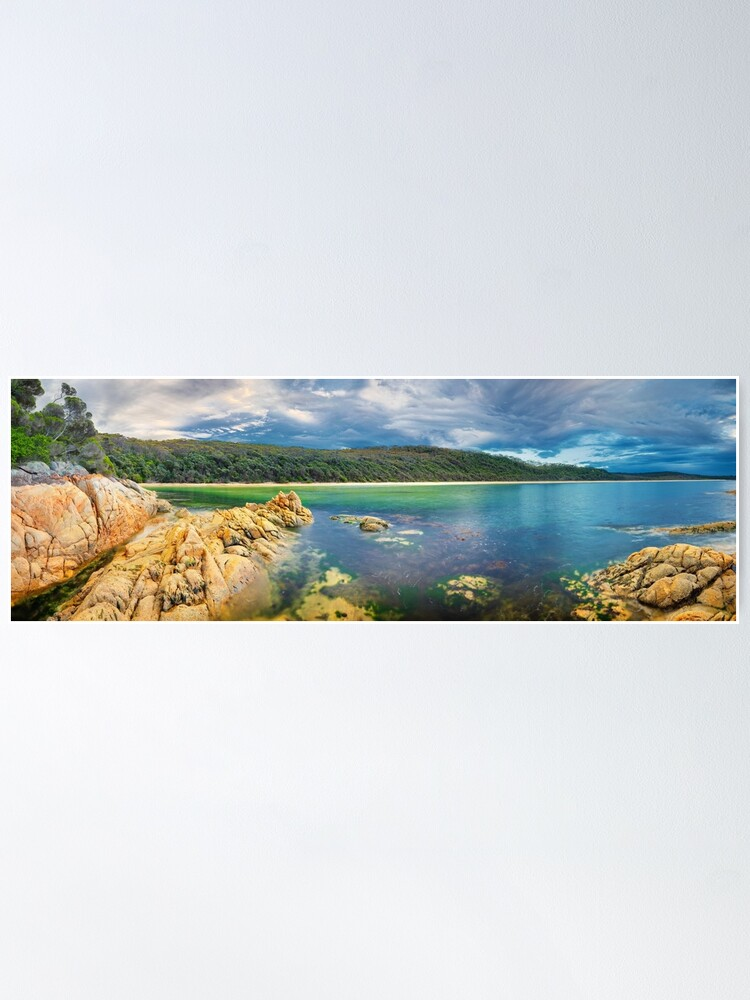 Alternate view of Wingan Inlet, Croajingolong National Park, Victoria, Australia Poster