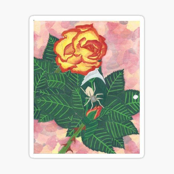 Spider on Rose  Sticker