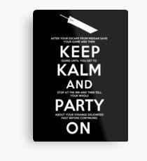 Keep Kalm Metal Print