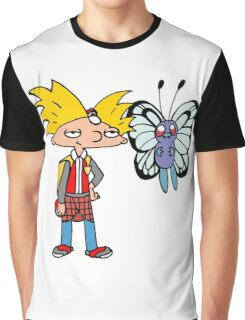 Hey Arnold! Pokemon Trainer Graphic T-Shirt