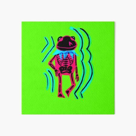 Frog Skeleton Art Board Print