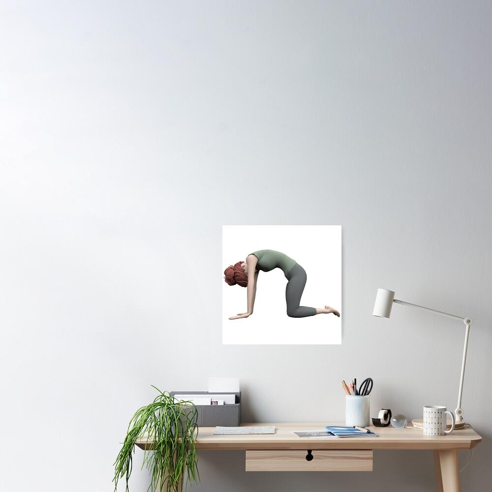 Poster «Yoga - La pose du Chat»