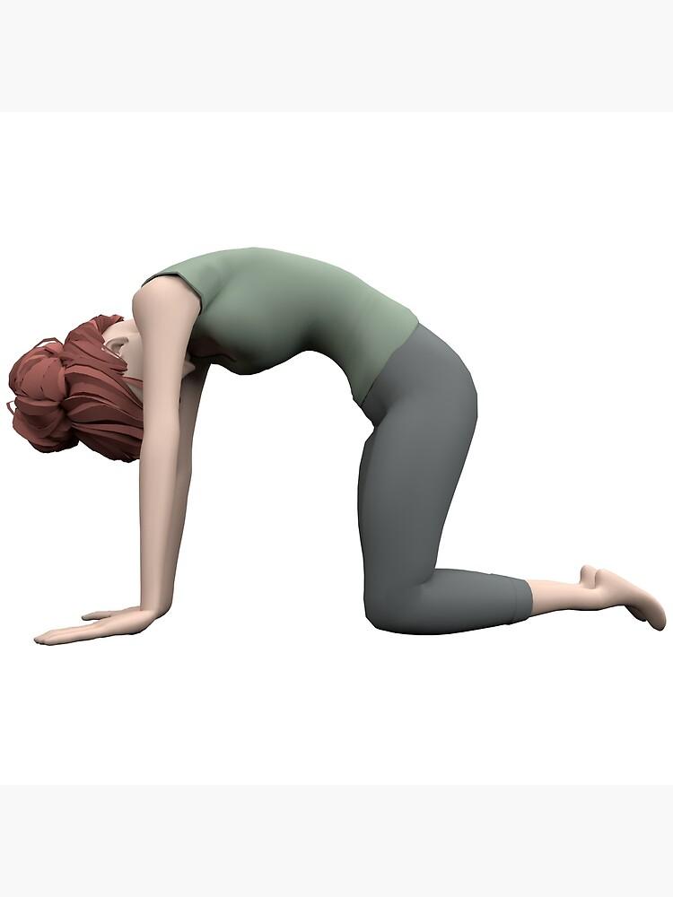 «Yoga - La pose du Chat» par Pidl