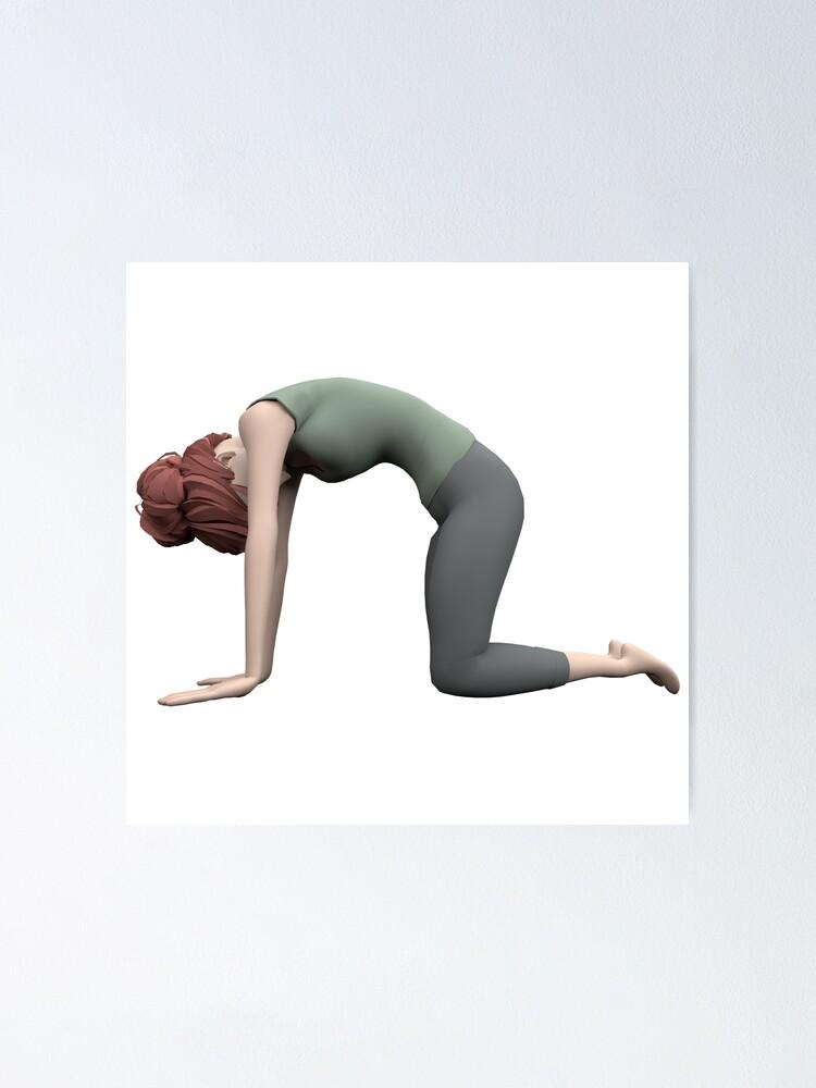 Poster ''Yoga - La pose du Chat': autre vue