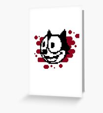 Fixel, the cat Greeting Card