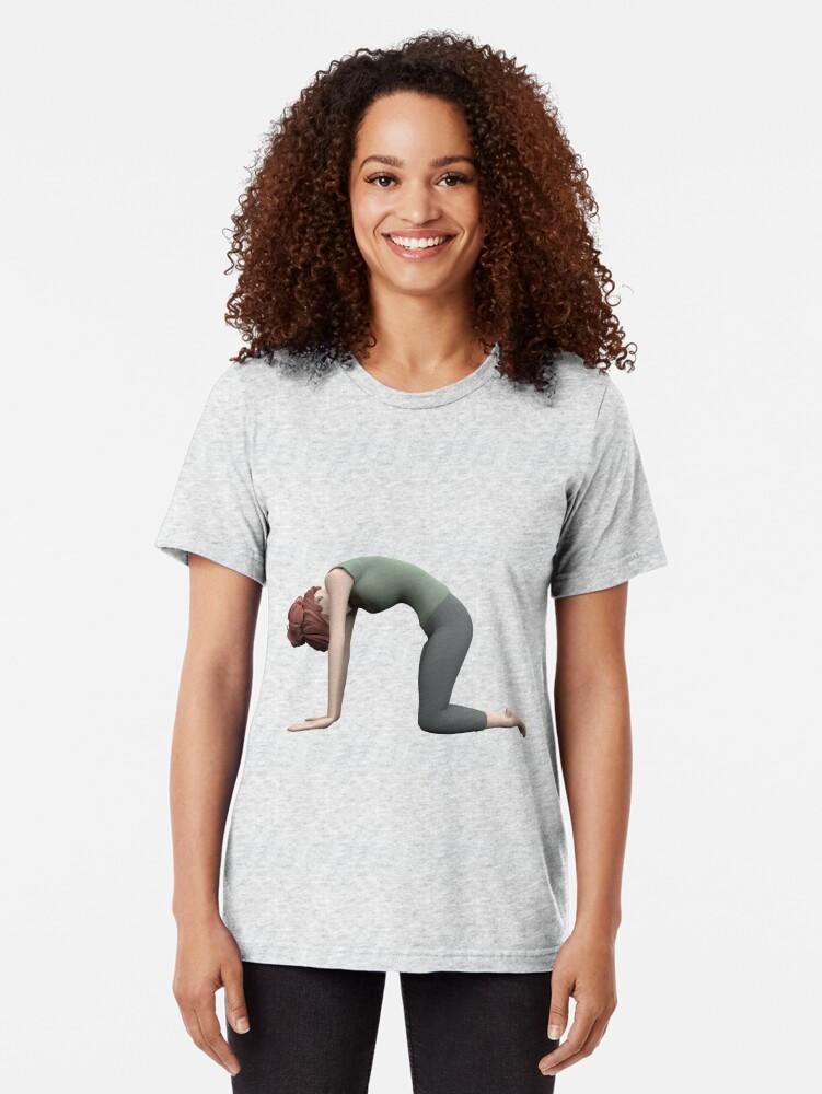 T-shirt chiné ''Yoga - La pose du Chat': autre vue