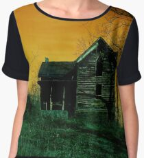 Haunted House On The Hill Chiffon Top
