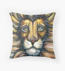 lion design hand draw Throw Pillow