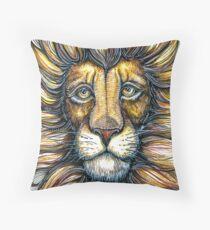 lion design hand draw Throw Pillow