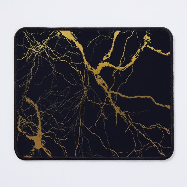 black and gold marble pattern Mouse Pad
