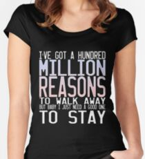 Million Reasons Women's Fitted Scoop T-Shirt