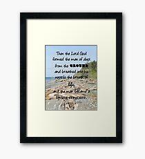 Driftwood Beach - Genesis 2:7 Framed Print