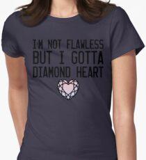 Diamond Heart Womens Fitted T-Shirt