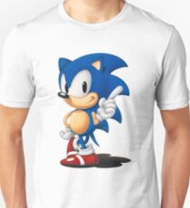 The Classic Blue Hedgehog (white background) T-Shirt